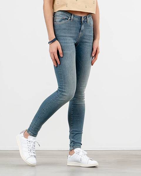 Modré skinny nohavice Selected