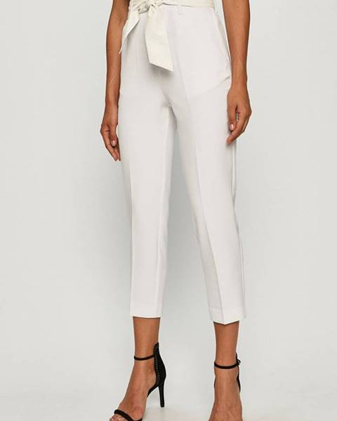 Biele nohavice Guess Jeans