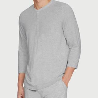 Pyžamo Under Armour Recovery Sleepwear Elite 3/4 Henley Šedá