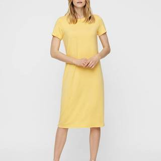 Žlté basic midišaty AWARE by VERO MODA Gava