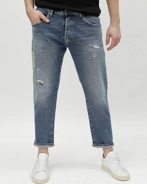 Selected Homme Modré rifle so záplatou Selected Homme Cropped