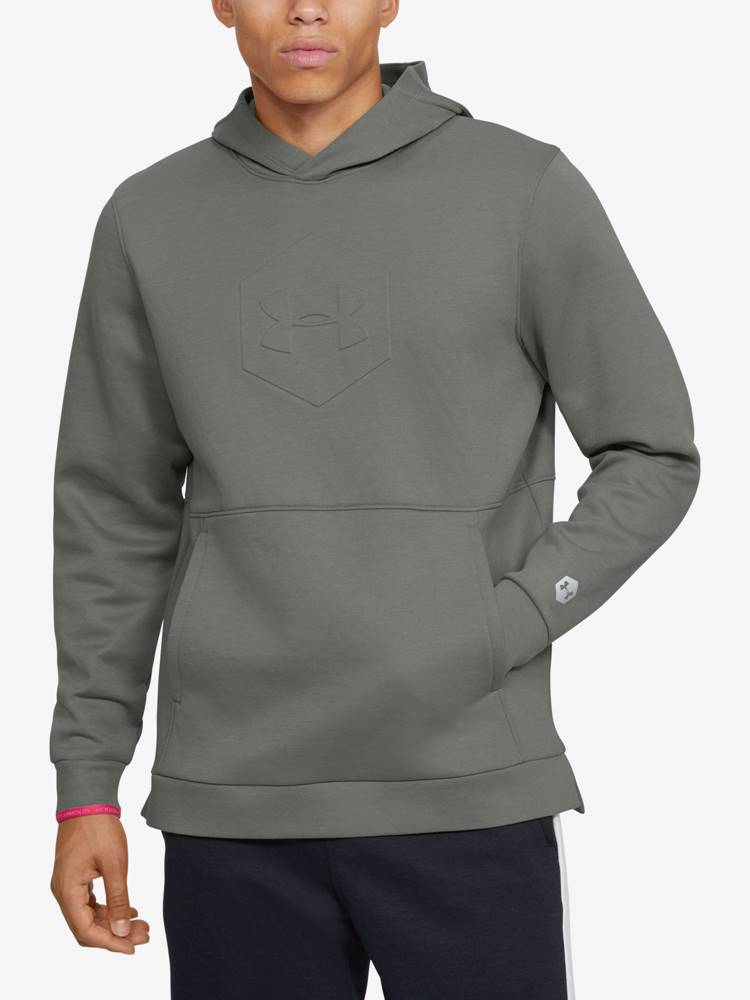 Under Armour Mikina Under Armour Athlete Recovery Fleece Graphic Hoodie Zelená