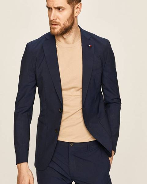 Tmavomodré sako Tommy Hilfiger Tailored