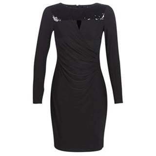 Krátke šaty Lauren Ralph Lauren  SEQUINED YOKE JERSEY DRESS