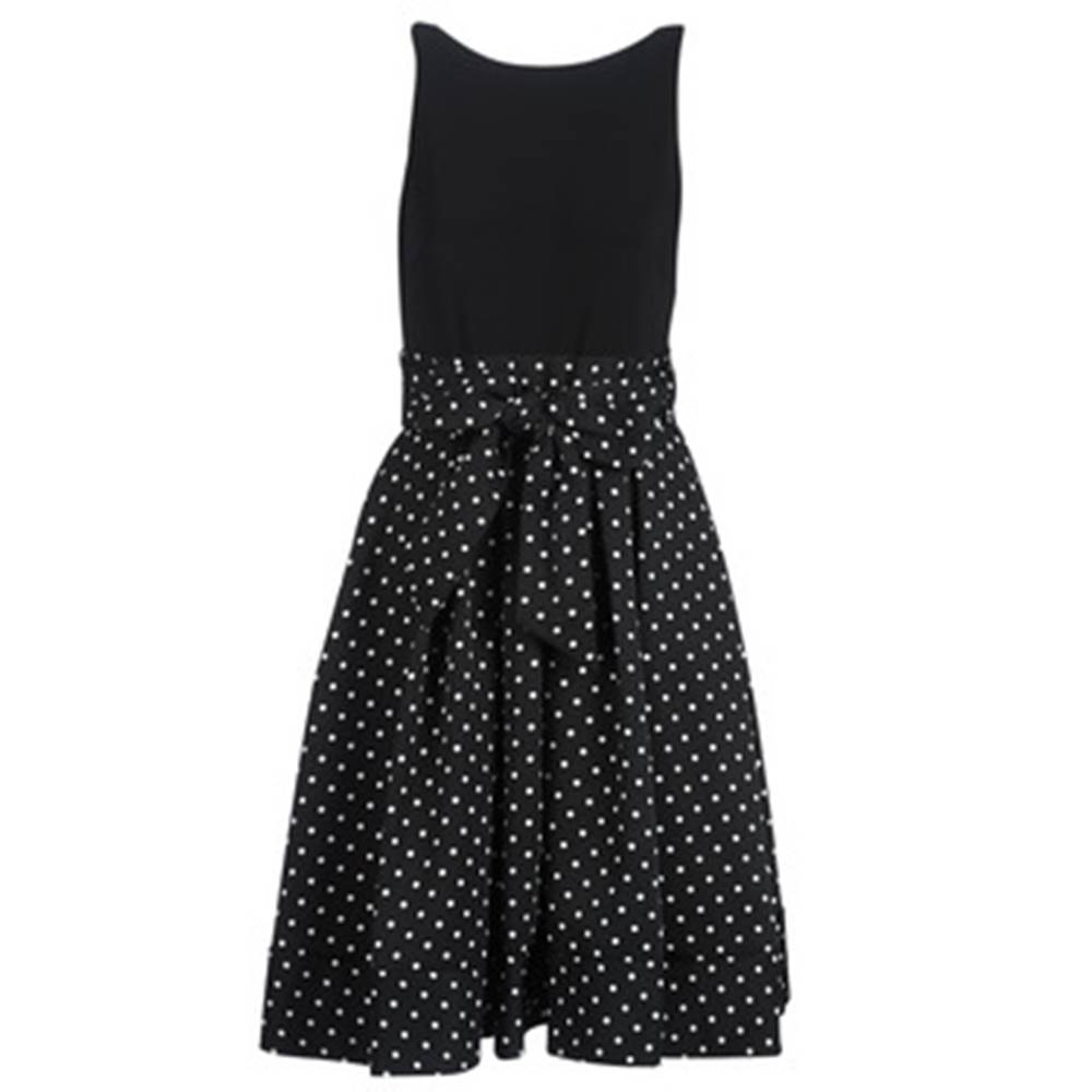 Lauren Ralph Lauren Krátke šaty Lauren Ralph Lauren  POLKA DOT FIT AND FLARE DRESS